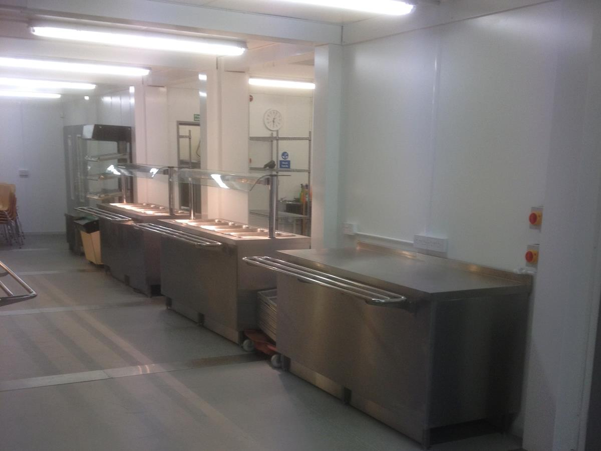 Our modular units can be expanded to include service areas connected to the kitchens.